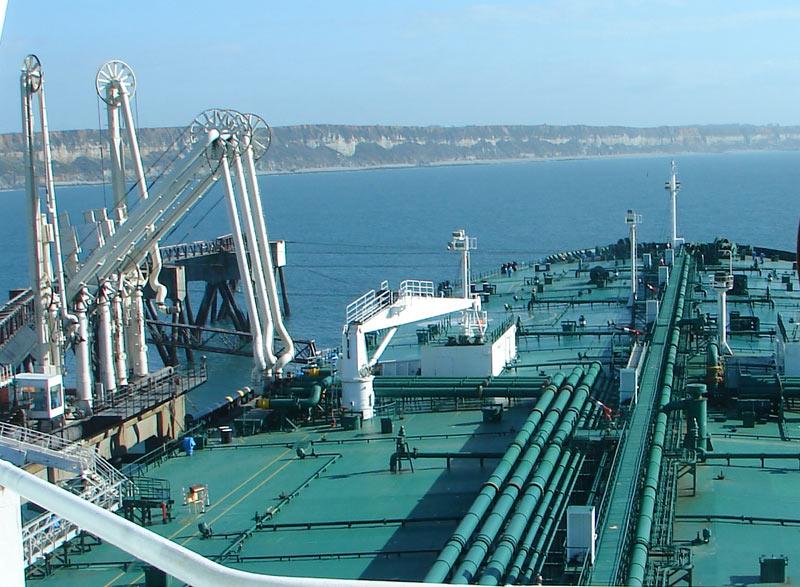 Tanker Unloading Crude Oil